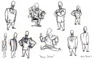 Manny Calavera concept art