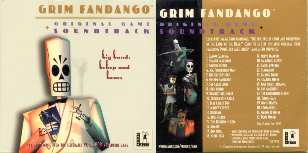Grim Fandango soundtrack CD cover art